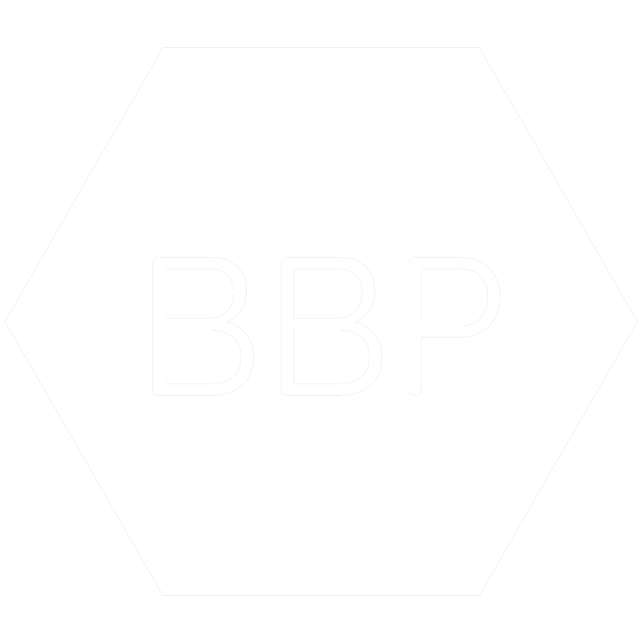 White hexagon icon with the chemical symbol for Butyl Benzyl  which is a banned RoHS substance.