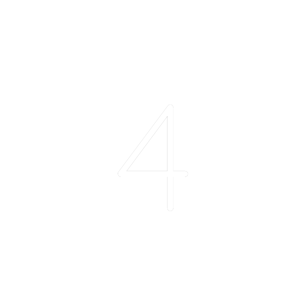White number four icon.
